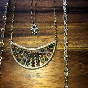 Lucky Brand Hamsa Multilayered Necklace
